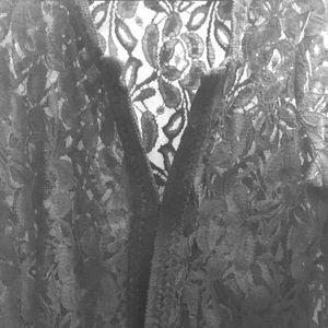 Black Lace Cardigan Top